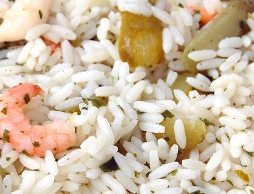 Insalata di riso con gamberi