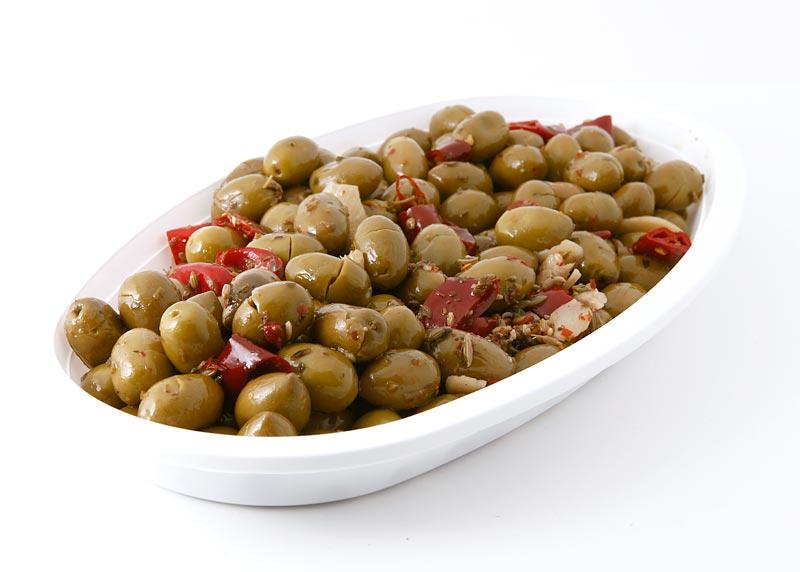Olive schiacciate piccanti